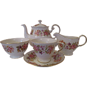 English Vintage Colclough 34 pc. Bone China Tea Set