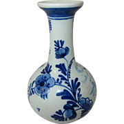 "Small 3 1/2 "" Vintage Hand Painted Delft Vase"