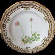 """Royal Copenhagen Flora Danica Pierced 9"""" Lunch Plate Antennaria dioeca. Gartn"""