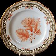 "Royal Copenhagen Flora Danica Pierced 9"" Lunch Plate Delisseria sinuosa. Lamour"