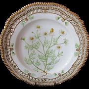 """Royal Copenhagen Flora Danica Pierced 9"""" Lunch Plate ~ Matricaria Chamomilla. L"""