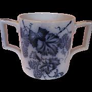 Large Flow Blue Loving Cup c 1900