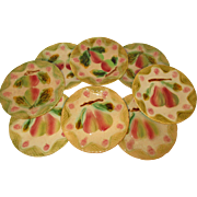 Colorful French Majolica/Barbotine Plates - Set of 8 ~ c. 1890