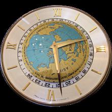 Rare Vintage ImHof Worldtime Desk Clock