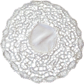 Irish Hand Made Lace Doily c 1880 - Perfect for Special Dolls Collar