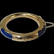 Natural Lapis Lazuli and 14kt Gold Bracelet