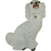 Large Antique Staffordshire King Charles Spaniel Dog c. 1850
