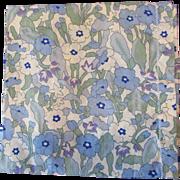 Vintage Liberty of London Cotton Floral Print Handkerchief