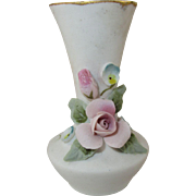 Miniature Porcelain Bisque Bud Vase for your Dollhouse