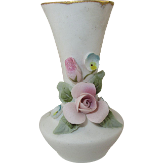 Miniature Porcelain Bisque Bud Vase for your Dollhouse