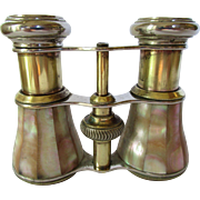 Vintage Parisian Opera Glasses with Mother of Pearl Inlay c 1900