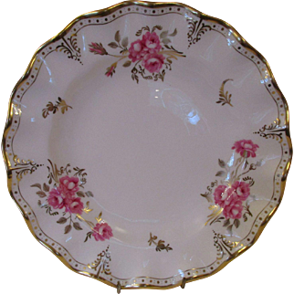 "Royal Crown Derby Royal Pinxton Roses 8 1/2"" Dessert/Salad Plates - Set of 8"
