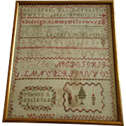 Antique Needlework Sampler c. 1846