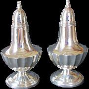Sterling Salt and Pepper Shakers ~ Elegant Hexagonal Shape c. 1920