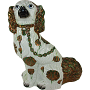 Antique English Luster Staffordshire Dog - c 1850