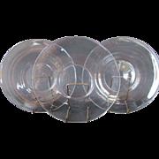 "Set of 12 Vintage Steuben 8 1/2"" Lunch or Salad Clear Glass Plates c1935"