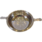 Antique 1797 Peter and Anne Bateman George III Sterling Silver Tea Lemon Strainer