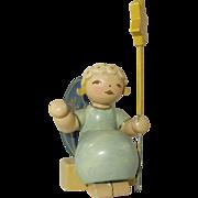 Vintage Wendt and Kuhn Wood Angel Figurine
