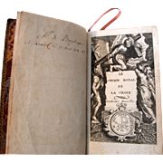 Antique French Prayer book from 1711 with engravings