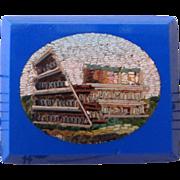 Small antique Italian micromosaic micro mosaic plaque Coliseum c1880