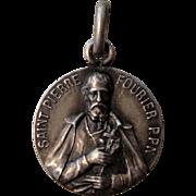 French religious medal St. Pierre Fourier / Mattancourt Church c1920