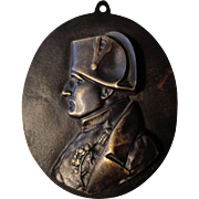 Rare Large Antique French Bronze Napoleon Medal / Plaque Signed by David c1831