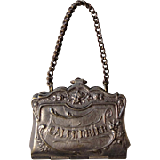 Antique French Calendar Purse Pendant Saints Feast Days from 1912