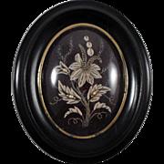 Rare Antique French Reliquary domed glass with Original Seals c.1860-1880     (St. Margaret Mary Alacoque, St. Francis de Sales,  St. Chantal)