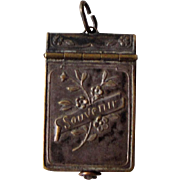 Rare French Souvenir of 1914 Pendant / Locket with Photos of French and English Generals and Presidents c.1920