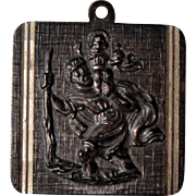 Large Vintage French Religious Saint Christopher Medal c1930