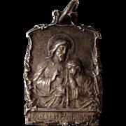 "Large Vintage French Jesus Religious Medal ""Ego Sum Panis Vivus"" c1920"