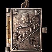 Rare Antique French Souvenir Photos Pendant / Book Joan of Arc c.1910