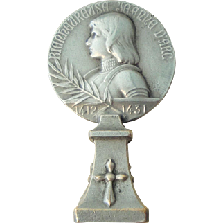 Antique French Joan of Arc / Fleur de Lys Wax Seal c1900