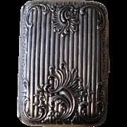 Antique French Art Nouveau Silver Plated Cigarette Case c1910