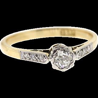 Edwardian 18ct & Platinum Old European Cut Diamond Ring