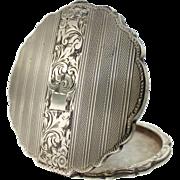 Vintage 900 Silver Art Deco Mirror Compact