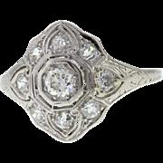 Antique Platinum Edwardian Diamond Engagement Ring