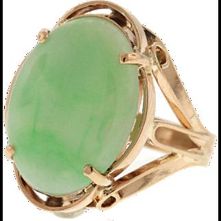 Retro Jade 18k Rose Gold Ring