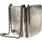 Edwardian Sterling Silver Dance Purse with Pencil