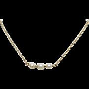 Delicate 14K YG Akoya Saltwater Cultured Pearl Bracelet