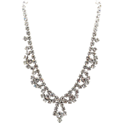 Vintage BY GALE Rhinestone Cocktail Necklace in a Scallop Design