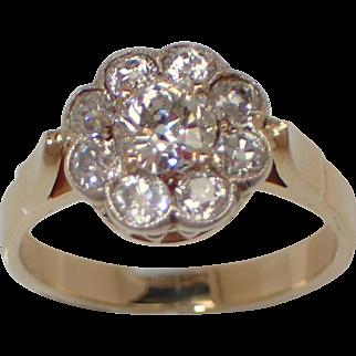 Wonderful 14K Daisy Shaped Diamond Ring