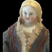 Blue Eye Blond Parian Doll