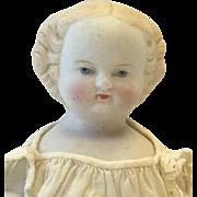 Blonde Parian Frozen Charlotte Doll