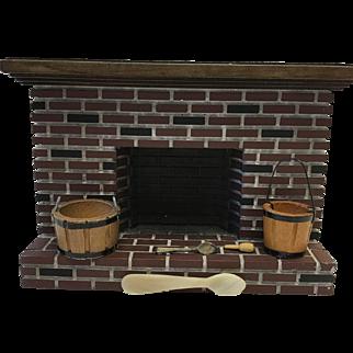 Dollhouse Fireplace & Miniatures