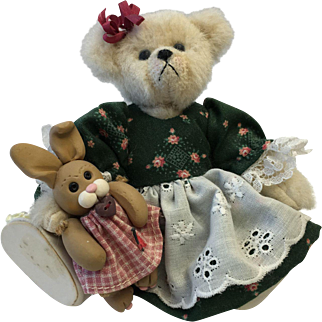 Sitting Bear With Small Rabbit
