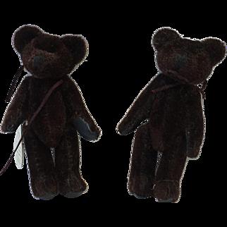 Set of Two Vintage Brown Bears
