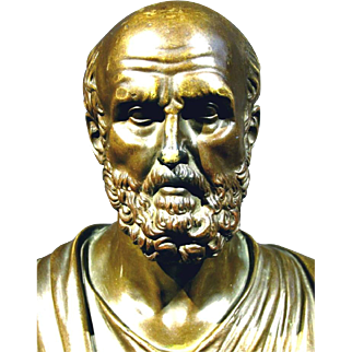 A Finely Cast 19th Century Bronze Bust of Chrysippus, Continental Circa 1880