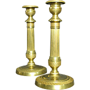 A Very Fine Pair of Charles X Gilt Bronze Candlesticks, France Circa 1830