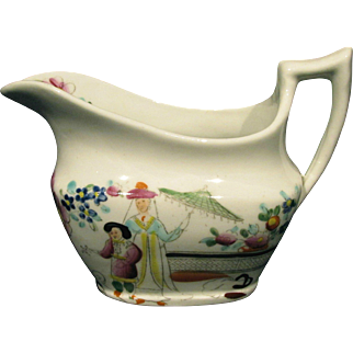 An Early 19th Century Staffordshire Porcelain Creamer, England Circa 1835